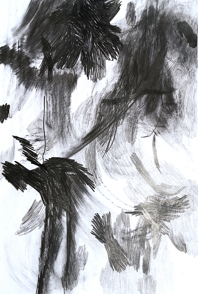 remnants, drawings, charcoal, graphit, paper, 2020 Offenbach